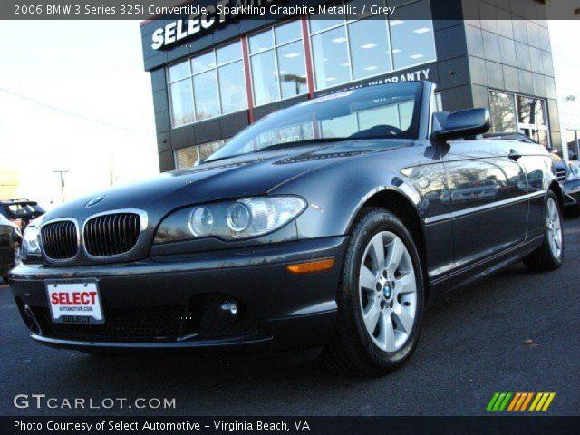 2006 BMW 3 Series 325i Convertible in Sparkling Graphite Metallic