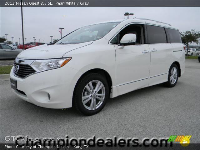 Pearl White 2012 Nissan Quest 35 Sl Gray Interior Gtcarlot