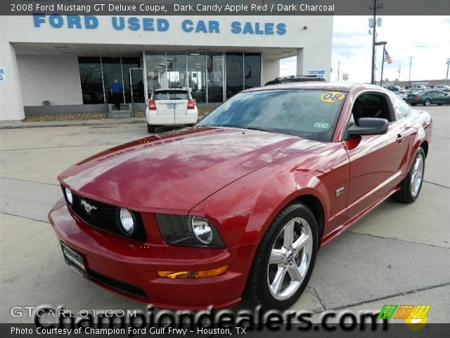 dark candy apple red 2008 ford mustang gt deluxe coupe dark charcoal interior. Black Bedroom Furniture Sets. Home Design Ideas