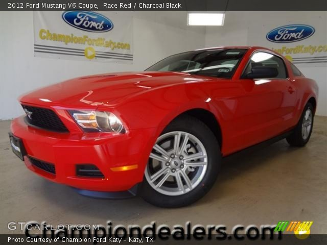 race red 2012 ford mustang v6 coupe charcoal black interior vehicle archive. Black Bedroom Furniture Sets. Home Design Ideas