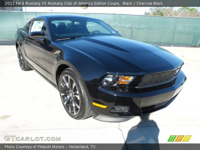 black 2012 ford mustang v6 mustang club of america edition coupe charcoal black interior. Black Bedroom Furniture Sets. Home Design Ideas