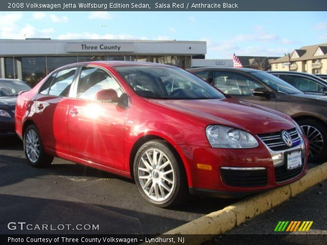salsa red 2008 volkswagen jetta wolfsburg edition sedan. Black Bedroom Furniture Sets. Home Design Ideas