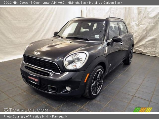 midnight black metallic 2011 mini cooper s countryman all4 awd carbon black interior. Black Bedroom Furniture Sets. Home Design Ideas