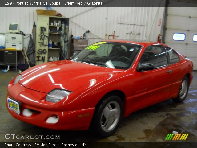 1997 Pontiac Sunfire GT Coupe in Bright Red