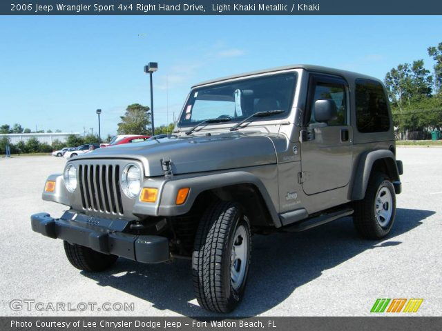 light khaki metallic 2006 jeep wrangler sport 4x4 right hand drive khaki interior gtcarlot. Black Bedroom Furniture Sets. Home Design Ideas