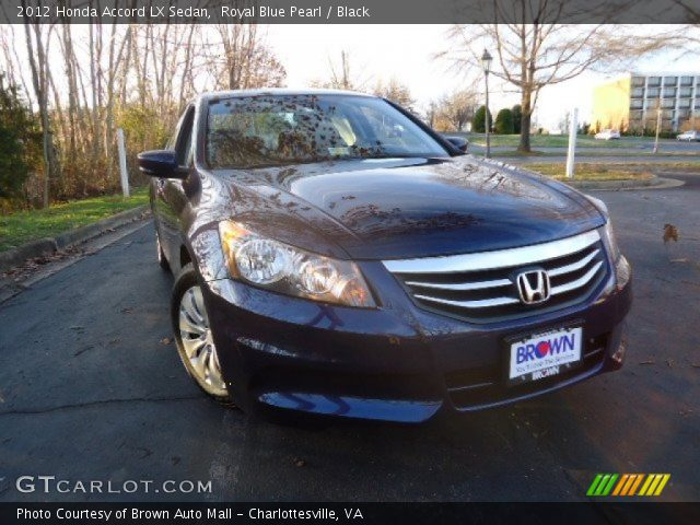 royal blue pearl 2012 honda accord lx sedan black interior vehicle archive. Black Bedroom Furniture Sets. Home Design Ideas