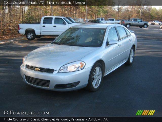 silver ice metallic 2011 chevrolet impala ltz neutral interior vehicle. Black Bedroom Furniture Sets. Home Design Ideas