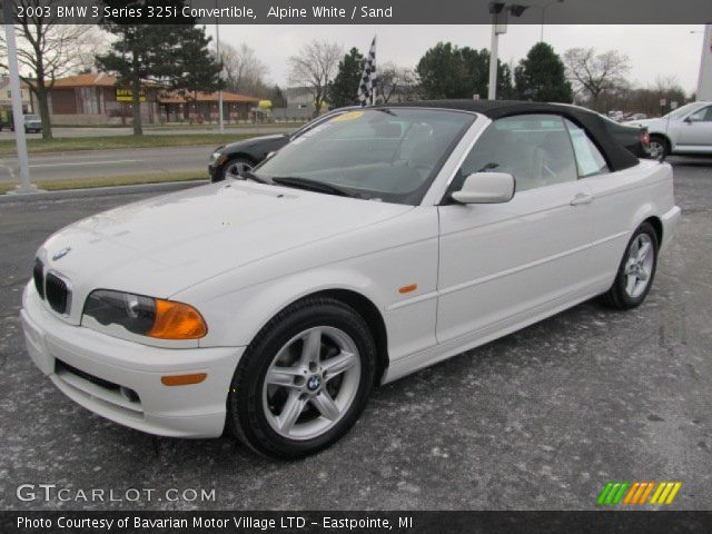 alpine white 2003 bmw 3 series 325i convertible sand interior vehicle. Black Bedroom Furniture Sets. Home Design Ideas