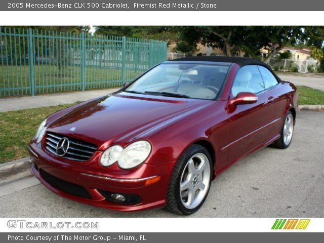 2005 Mercedes-Benz CLK 500 Cabriolet in Firemist Red Metallic