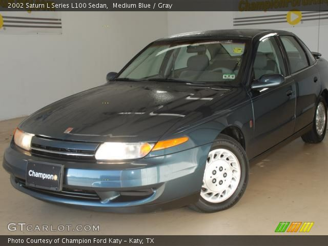 medium blue 2002 saturn l series l100 sedan gray interior vehicle archive. Black Bedroom Furniture Sets. Home Design Ideas