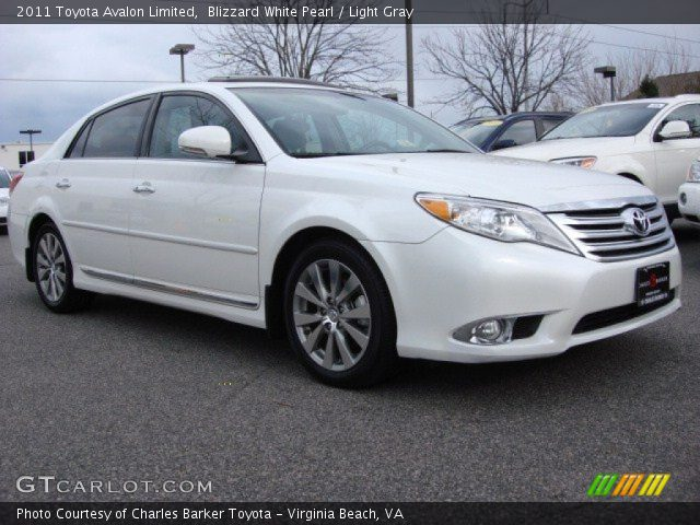 blizzard white pearl 2011 toyota avalon limited light. Black Bedroom Furniture Sets. Home Design Ideas