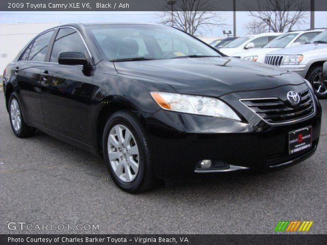 black 2009 toyota camry xle v6 ash interior vehicle archive 59168463. Black Bedroom Furniture Sets. Home Design Ideas