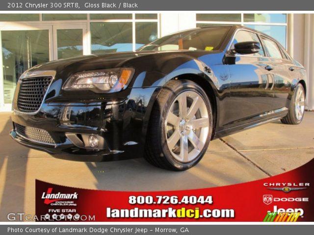 Gloss Black 2012 Chrysler 300 Srt8 Black Interior Vehicle Archive 59168714
