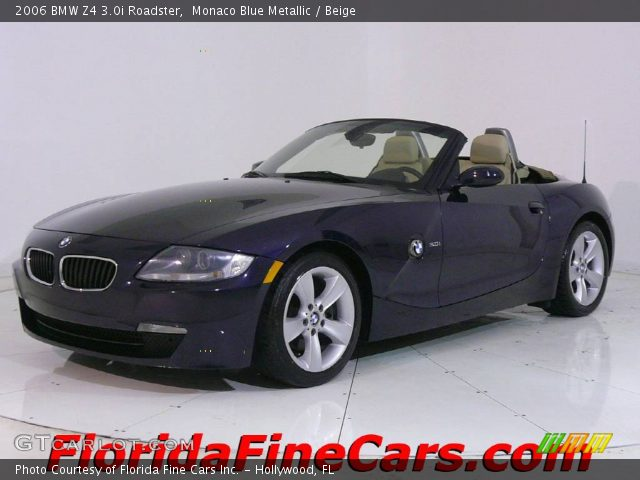 monaco blue metallic 2006 bmw z4 roadster beige. Black Bedroom Furniture Sets. Home Design Ideas