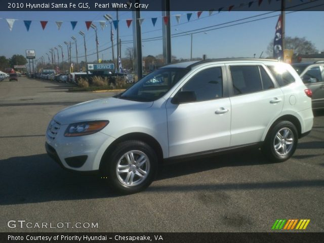 pearl white 2010 hyundai santa fe gls gray interior vehicle archive 59168629. Black Bedroom Furniture Sets. Home Design Ideas