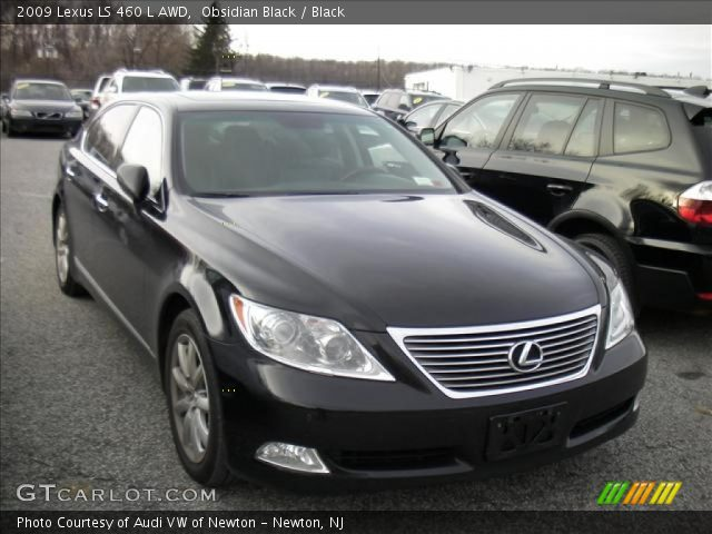 obsidian black 2009 lexus ls 460 l awd black interior. Black Bedroom Furniture Sets. Home Design Ideas