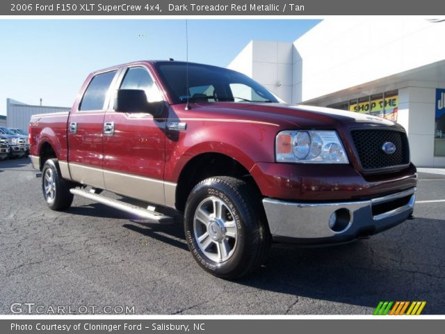 dark toreador red metallic 2006 ford f150 xlt supercrew. Black Bedroom Furniture Sets. Home Design Ideas