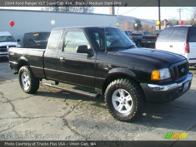 black 2004 ford ranger xlt supercab 4x4 medium dark flint interior vehicle. Black Bedroom Furniture Sets. Home Design Ideas