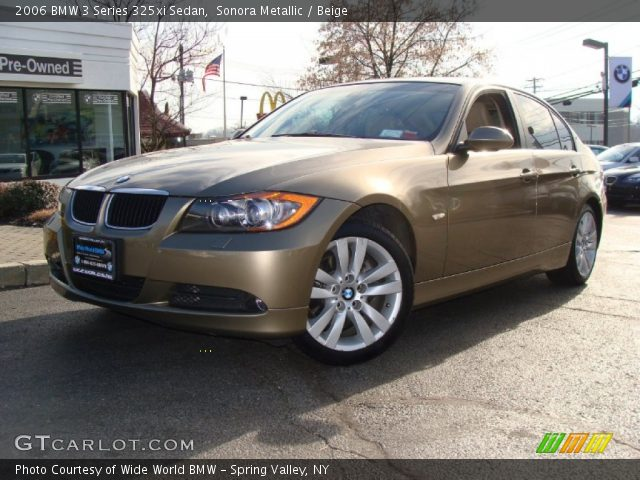 sonora metallic 2006 bmw 3 series 325xi sedan beige interior vehicle. Black Bedroom Furniture Sets. Home Design Ideas