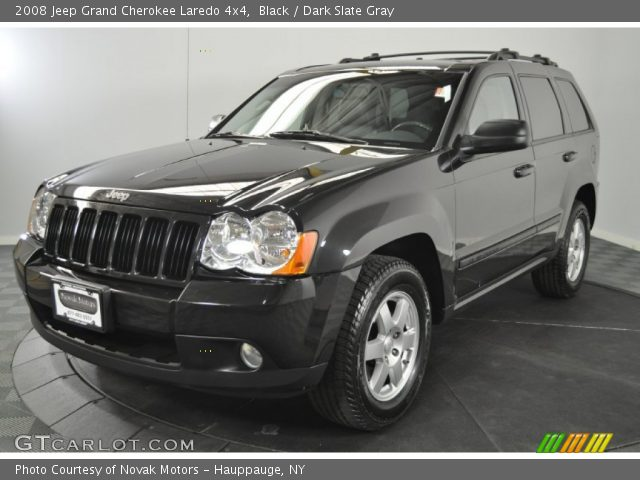 Black 2008 Jeep Grand Cherokee Laredo 4x4 Dark Slate Gray Interior Vehicle