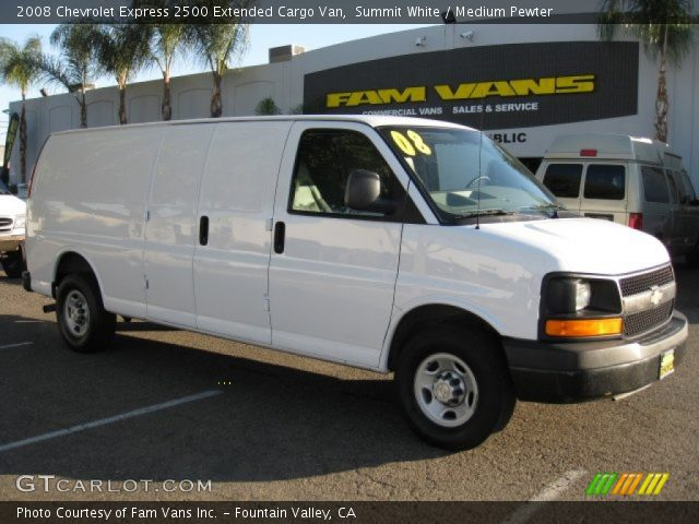 summit white 2008 chevrolet express 2500 extended cargo. Black Bedroom Furniture Sets. Home Design Ideas