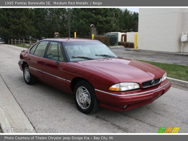 medium red metallic 1995 pontiac bonneville se beige. Black Bedroom Furniture Sets. Home Design Ideas