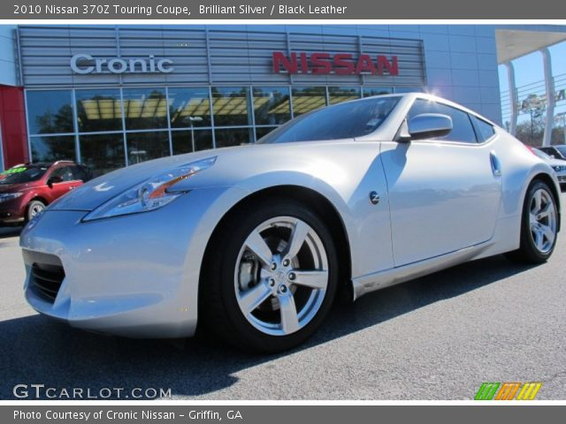 brilliant silver 2010 nissan 370z touring coupe black. Black Bedroom Furniture Sets. Home Design Ideas