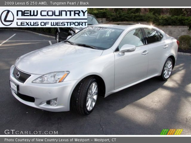 tungsten pearl 2009 lexus is 250 awd black interior vehicle archive 59243219. Black Bedroom Furniture Sets. Home Design Ideas