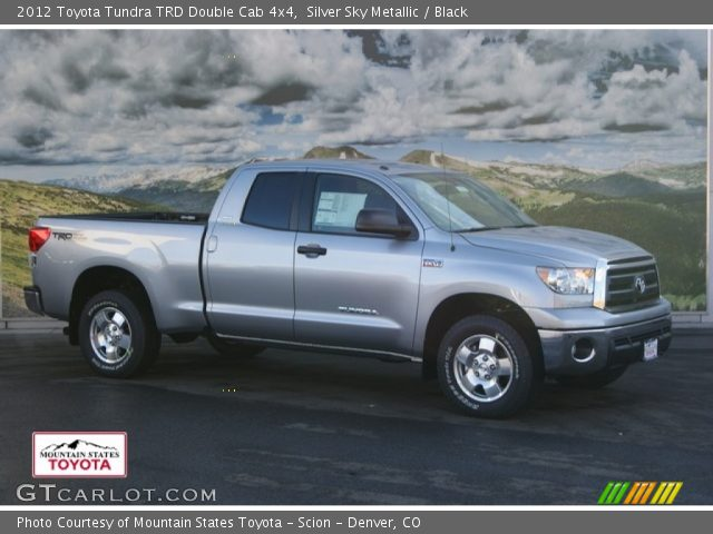 silver sky metallic 2012 toyota tundra trd double cab 4x4 black interior. Black Bedroom Furniture Sets. Home Design Ideas
