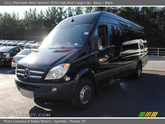 Black 2011 mercedes benz sprinter 3500 high roof cargo for Mercedes benz 3500 sprinter
