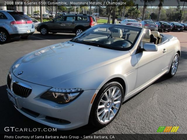2008 BMW 6 Series 650i Convertible in Moonstone Metallic