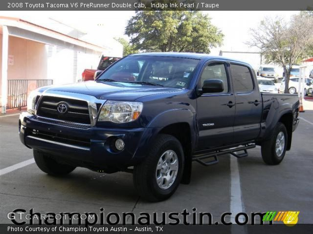 indigo ink pearl 2008 toyota tacoma v6 prerunner double cab taupe interior. Black Bedroom Furniture Sets. Home Design Ideas