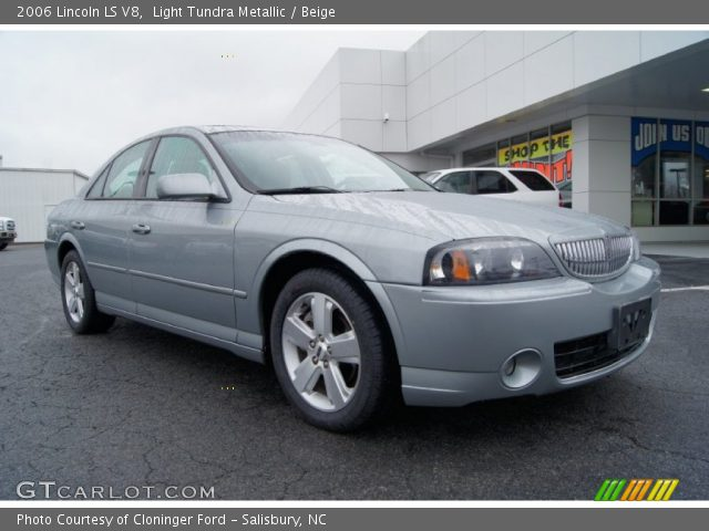 light tundra metallic 2006 lincoln ls v8 beige interior vehicle archive. Black Bedroom Furniture Sets. Home Design Ideas