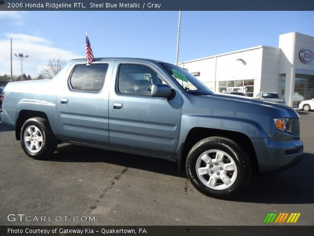 steel blue metallic 2006 honda ridgeline rtl gray. Black Bedroom Furniture Sets. Home Design Ideas