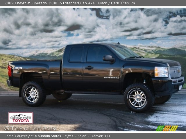 black 2009 chevrolet silverado 1500 ls extended cab 4x4 dark titanium interior gtcarlot. Black Bedroom Furniture Sets. Home Design Ideas