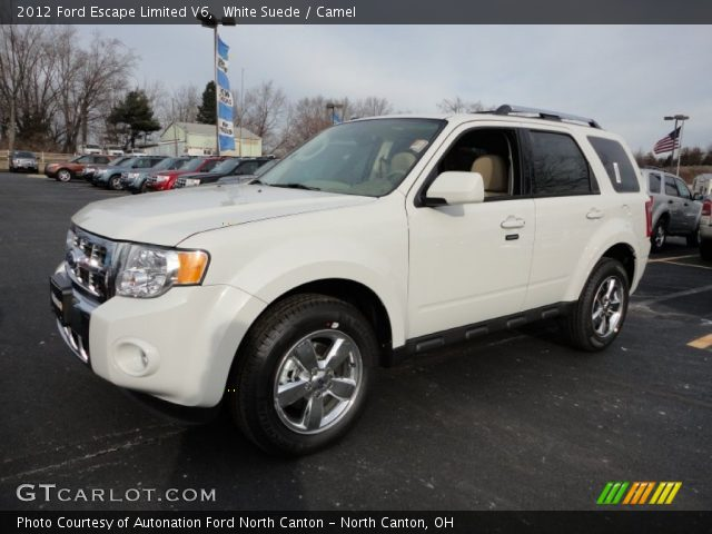 white suede 2012 ford escape limited v6 camel interior gtcarlot. Cars Review. Best American Auto & Cars Review