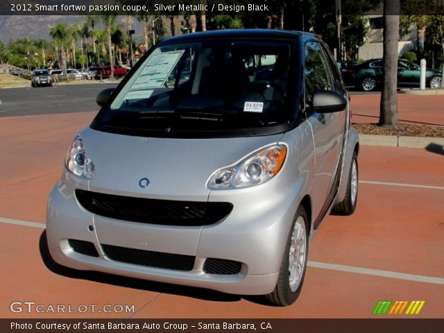 2012 Smart fortwo passion coupe in Silver Metallic