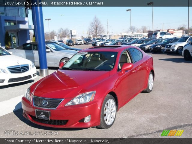 Matador Red Mica 2007 Lexus Is 250 Awd Cashmere Interior Vehicle Archive