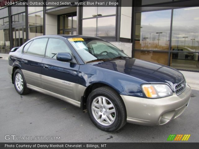 Mystic Blue Pearl 2004 Subaru Outback Limited Sedan Beige