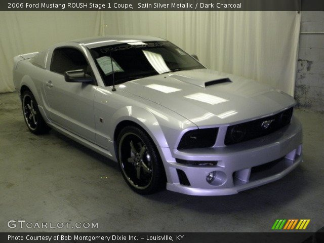 satin silver metallic 2006 ford mustang roush stage 1. Black Bedroom Furniture Sets. Home Design Ideas