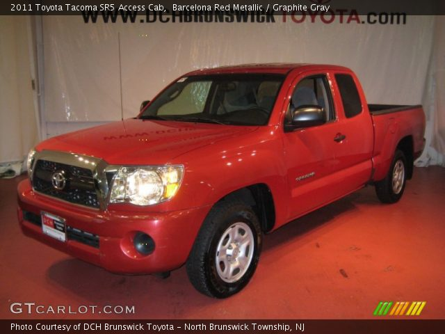 barcelona red metallic 2011 toyota tacoma sr5 access cab graphite gray interior gtcarlot. Black Bedroom Furniture Sets. Home Design Ideas