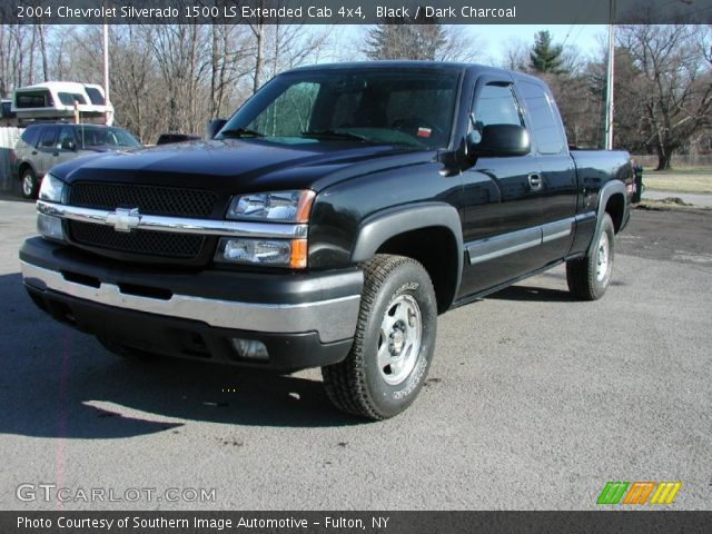 black 2004 chevrolet silverado 1500 ls extended cab 4x4. Black Bedroom Furniture Sets. Home Design Ideas