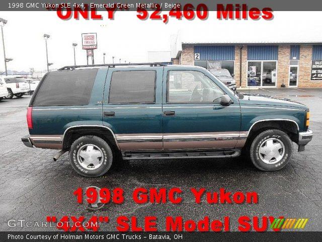 1998 GMC Yukon SLE 4x4 in Emerald Green Metallic