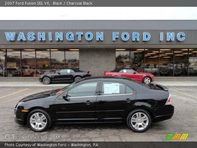 black 2007 ford fusion sel v6 charcoal black interior vehicle archive 59478700. Black Bedroom Furniture Sets. Home Design Ideas