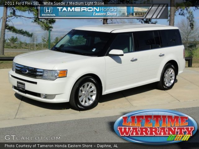 white suede 2011 ford flex sel medium light stone. Black Bedroom Furniture Sets. Home Design Ideas