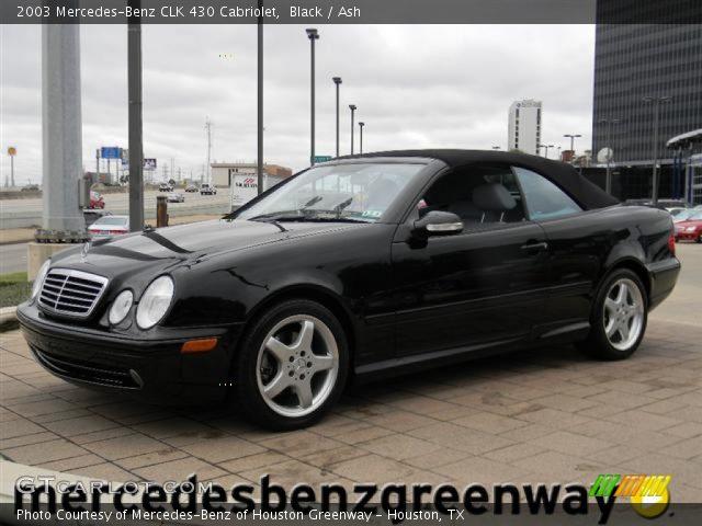 Black 2003 mercedes benz clk 430 cabriolet ash for 2003 mercedes benz clk430