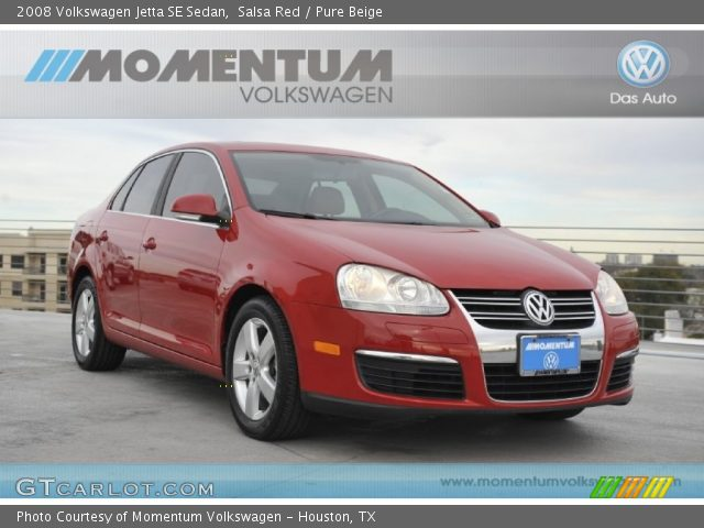 2008 Volkswagen Jetta SE Sedan in Salsa Red