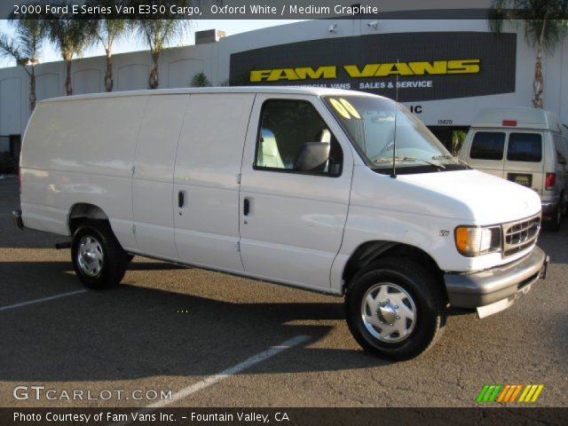 oxford white 2000 ford e series van e350 cargo medium. Black Bedroom Furniture Sets. Home Design Ideas