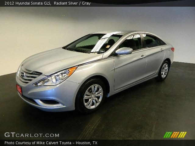 radiant silver 2012 hyundai sonata gls gray interior gtcarlot. Black Bedroom Furniture Sets. Home Design Ideas