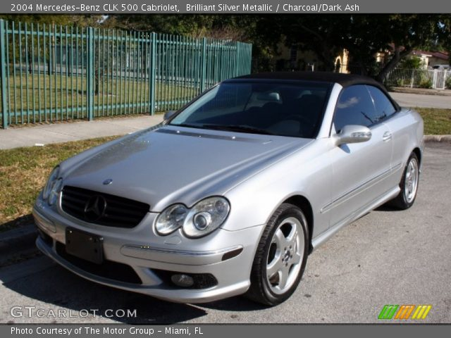Brilliant silver metallic 2004 mercedes benz clk 500 for 2004 mercedes benz clk 500